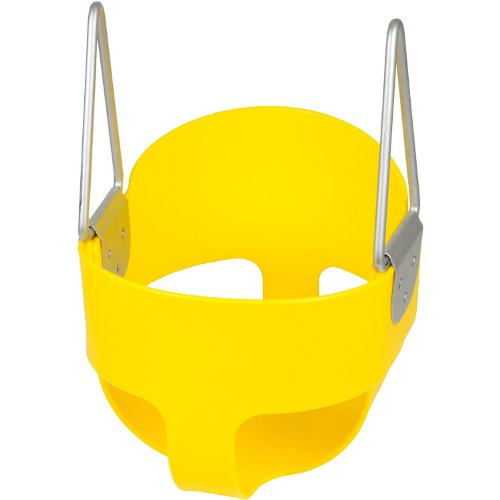 Swing Set Stuff Highback Full Bucket Seat Only with SSS Logo Sticker, Yellow