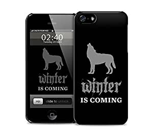 winter is coming black wolf iPhone 5 / 5S protective case