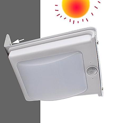 Denshine 16 LED iluminación Lámpara Energía Solar con Sensor Movimiento para Jardin Patio calle