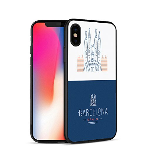 Barcelona Spain Capa Soft Silicone Case for iPhone X 5 S 5S 6 6S 7 8 Plus Cover Phone Fundas Capinha de Celular (iphone 5/5S/SE)