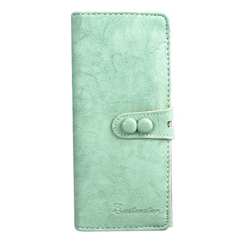 Small Fresh Wallet,Prettymenny 3 colors Wallet Mobile Phone Bag (Green)