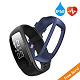 Best Cheap Fitness Trackers - runme Fitness Tracker with Heart Rate Monitor, Activity Review