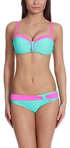 Verano Bikini Conjunto Push Up para mujer Juanita Menta Claro/Rosa