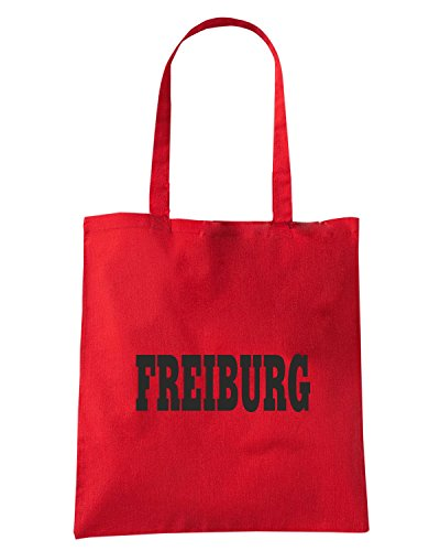 T-Shirtshock - Bolsa para la compra WC0806 FREIBURG GERMANY CITY Rojo