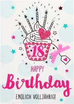 Tarjeta de felicitación para cumpleaños con purpurina 100 ...