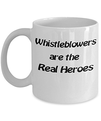 Matrix Mug - Coffee Wisdom Quotes - Ceramic - Office - Tea Cup Gift - 11 oz - White - Whistleblowers Are The Real Heroes - Education