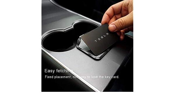 Hamkaw Key Card Holder for Tesla Model 3 Center Console Antislip Key Card Holder Anti-dust Anti-sratched Tesla Model 3 Accessories