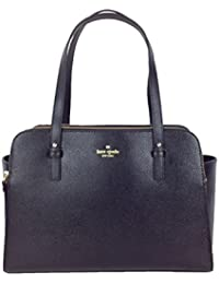 Grand Street Lydia Leather Tote, French Navy