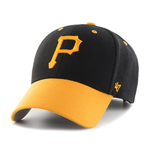 MLB Pittsburgh Pirates Audible Two Tone MVP Hat, One Size, Black (Pirates Hats)