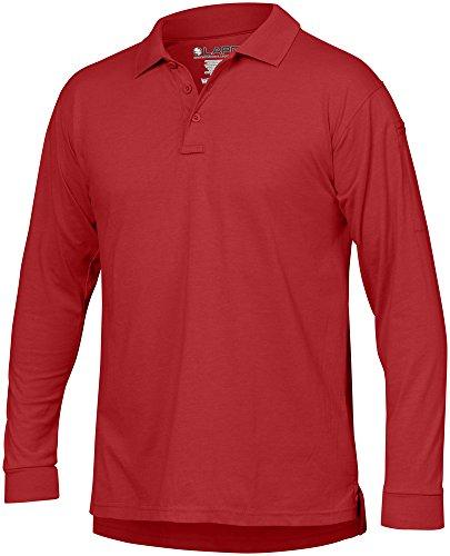 LA Police Gear Men Antiwrinkle Operator Tactical Long Sleeve Polo Shirt ()