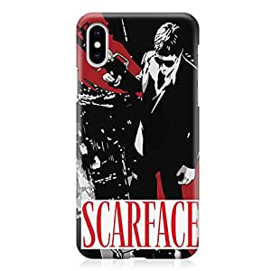 Loud Universe Scarface Movie iPhone XS Case Movie Poster Scarface iPhone XS Cover with 3d Wrap around Edges