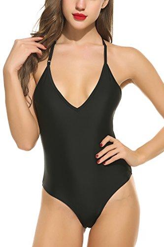 Avidlove 2017 Women's One Piece Swimsuit Backless Solid Raceback Swimwear Sexy Bathing Suit