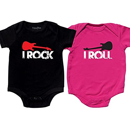 Nursery decals and more cute bodysuits for twins includes 2 bodysuits 0 3 month rock roll