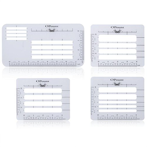 Envelope Writing Guide (OPount 4Pcs 4 Style Envelope Addressing Guide Stencil Templates Fits Wide Range of Envelopes, Sewing, Thank You Card)