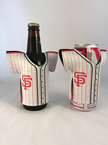 San Francisco Giants Beer Can Holder Koozie and Bottle Sleeve Jersey Style (2 Pack) ... (Jersey San Francisco Bottle Giants)