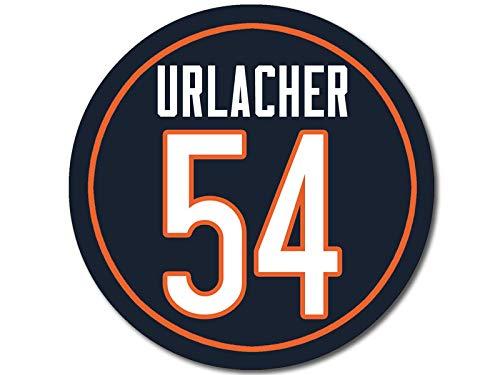 American Vinyl Round Bears Classic #54 Brian Urlacher Sticker (Number Chicago da)