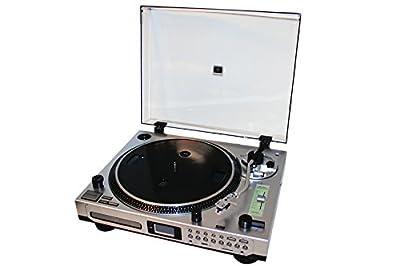 EMB Professional EB21CDR DJ Turntable With Remote - CD/MP3 Player - CD BURNER / PLL Radio / Aux In / Clock Alarm / USB / SD Encoding For Home DJ Performance Club Bar Pub Studio Stage Show Entertainment by EMB