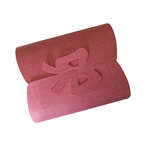 12 Best Decorative Ribbed Gift Boxes Set with Lids by Giovanni Grazielli Italian Design, Pink, for All Occasions, Wedding, Birthday, Holidays (6.00 x 5.11 x 2.20 inches)