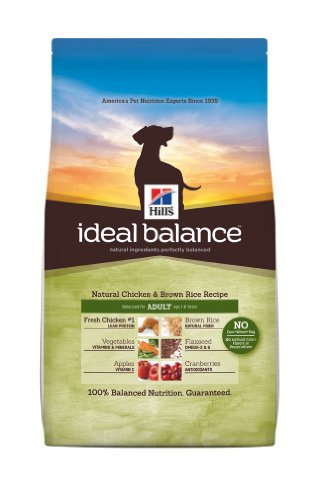 Hill's Ideal Balance Chicken and Brown Rice Recipe Adult Dogs Dry Food Bag, 30-Pound, My Pet Supplies