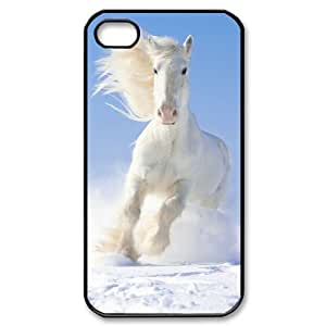 ZLGU(RM) Iphone 4,4S Case with White Horse Customized Case, Personalized phone case