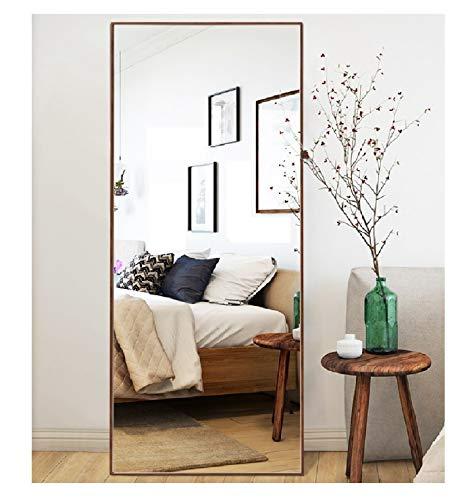 CrossROBBIN Thin Frame Floor Mirror (Walnut, 65