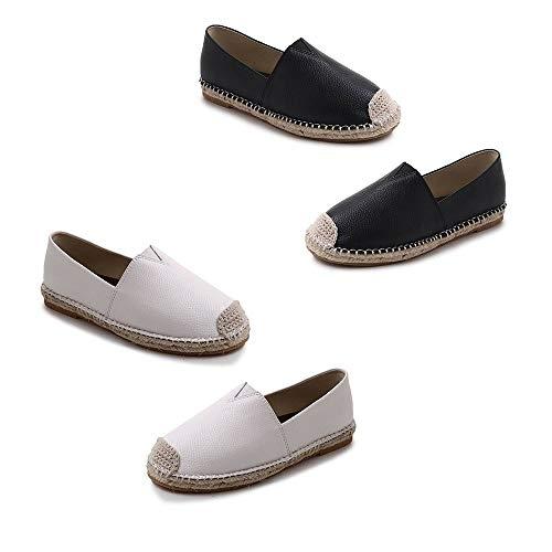 Casuales Planos Negro on Mocasines Moda Slip 38 Primavera Respirable Zapatos Para Mujer Dama Boat Verano wqq4O1P0