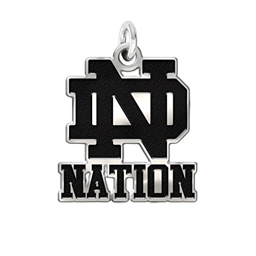 Notre Dame Fighting Irish Pride Charm in Solid Sterling Silver