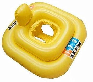 Amarillo cuadrado hinchable de natación Anillo de asiento para ...