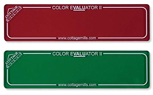 Color Evaluator II - Red & Green Viewing Filter Set - Color Value Finder/Gray Scale Contrast Evaluator. Get The Right Color Mix for Your Project! (Green red)