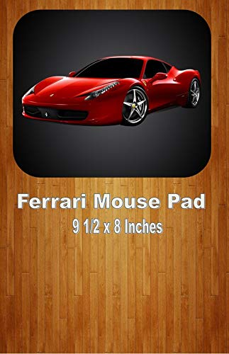 Red Ferrari Coupe Sports Car Mouse Pad Home Or Office