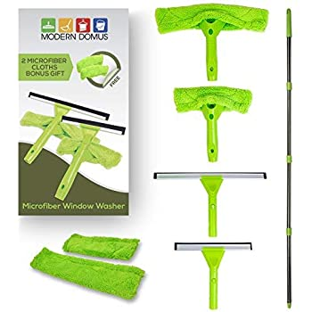 Amazon Com Elvoes Window Squeegee Extendable Microfiber