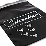Silverline Jewelry- Set of 5 Pairs Of Tiny 2mm