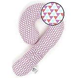 ジーニーピローライト(Genie Pillo-Lite)PinkTriangle  ネック&ボディクッション枕 車のシートベルトに連結可能 og03 Pink