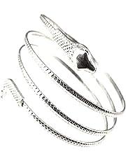 Egyptische Spiraalse Slang Wrap Rond Arm Manchet Coil Armband Armband Egyptische Armband Slang Ontwerp Voor Vrouwen Zilver 1pc Slang Armband