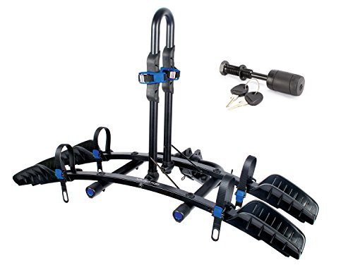 Cheap Heininger 2037 Advantage Sports Rack Flat Rack 2 Bike Platform Hitch Mounted Rack with Hitch Lock