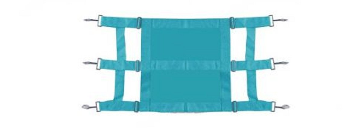 Showman Heavy Duty TEAL Webbed Nylon Solid Front Stall Guard Horse Pony Adjusts 36-48