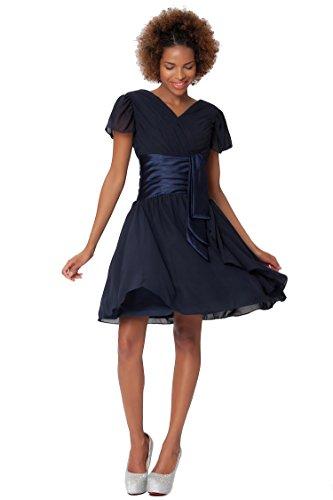 Gasa con Encanto SEXYHER c¨®ctel de baile vestidos de dama - COJ1522 Midnightblue