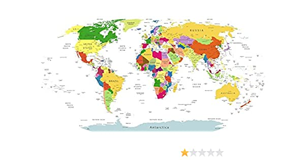 Maxi detallado mapa del mundo (tabla) – Póster de pared grande – 81 cm x 43 cm: Amazon.es: Hogar