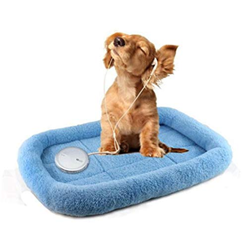Krastal Dog Bed Winter Soft Warm Rectangle Bed Small Puppy Cotton Sleep Blanket Cushion Basket Dog Mat