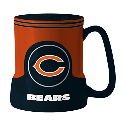 NFL Chicago Bears Sculpted Game Time Mug, 18-ounce, - Water Mall Chicago