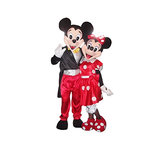 KF Mickey Mouse Mascot Party Costume Adult Size Deluxe Outfit Halloween Cosplay -