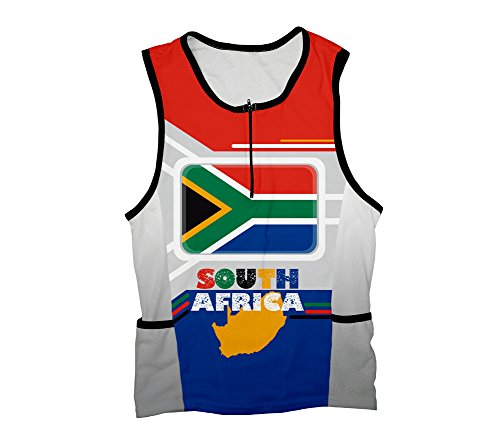 South Africa Triathlon Top for Men - Size 4XL by ScudoPro