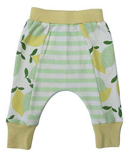 Cat & Dogma Organic Cotton Unisex Baby Pants (Limes Lemons, 12-18 Months)