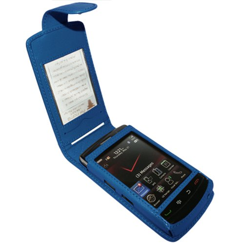 Piel Frama Wallet Case for Blackberry Storm2 9520 / 9550 - Blue 9550 Snap