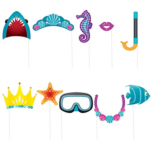 Under The Sea Photo Booth Props, 10pc]()