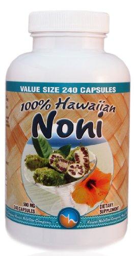 Hawaii Nutrition Company Hawaiian Noni Capsules, 240 Count