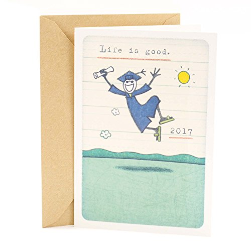 Hallmark Class of 2017 Graduation Greeting Card for Him (Life is Good, Class Dismissed)