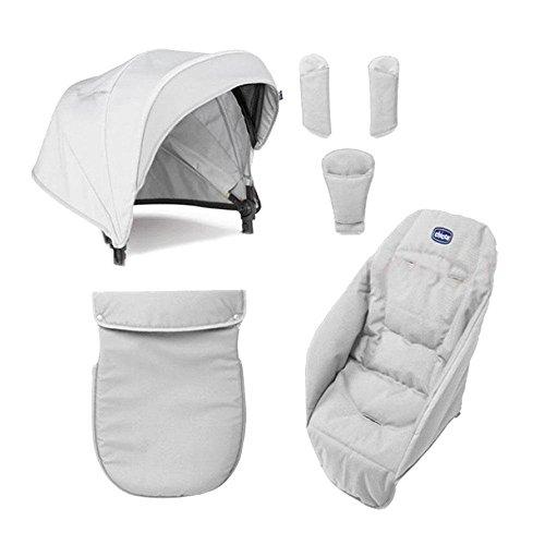 Chicco Color Pack Special Edition - Kit de accessorios para silla de paseo, color carbon