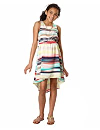 Paper Doll Sleeveless High-Low Dress for Girls