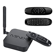 MINIX Neo U1 Smart TV Box with C120 Keyboard Remote Control, Android Lollipop 5.1.1 Amlogic S905 Quad-core 2G/16G Dual-Band 2x2 MIMO WiFi 1000M/LAN BT4.1